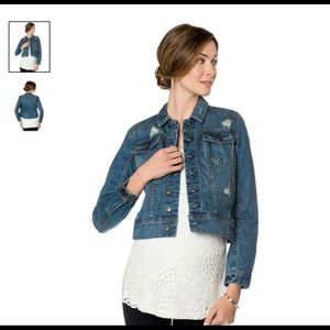 A Pea in the Pod Distressed Maternity Jean Jacket
